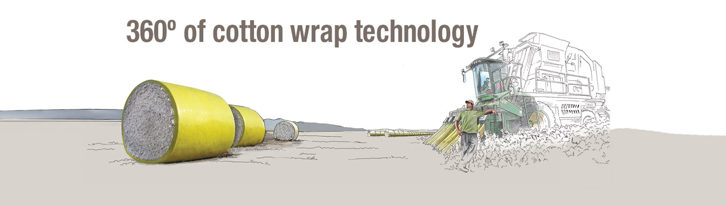 360° of cotton wrap technology